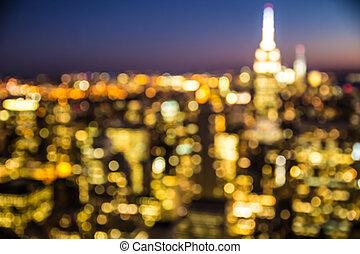 új, elvont, york, város