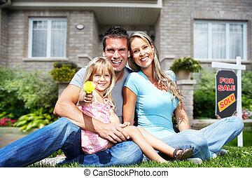 új, house., család