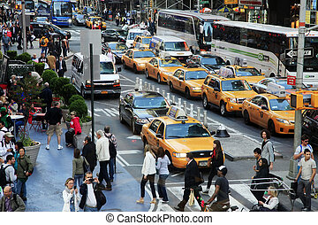 új, időmegállapítás, york, square., város