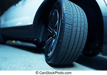 új, márka, autógumi, autó