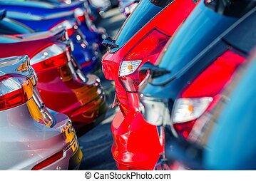 új, márka, piac, autók