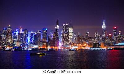 új, múlás, város, york, idő