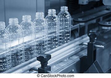 új, műanyag palack, kézbesítő