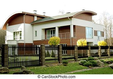 új, modern építészet, otthon