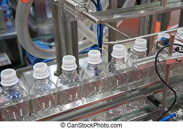 új, palack, műanyag