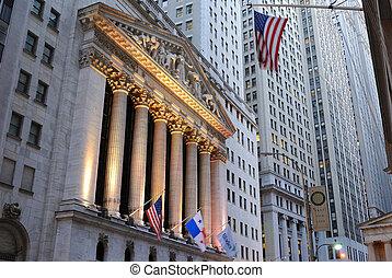 új, részvény, york, cserél