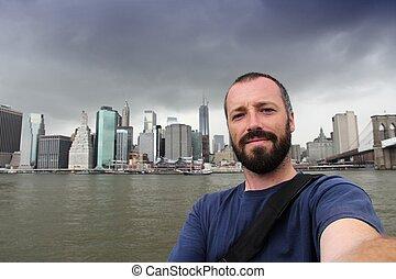 új, selfie, york