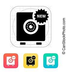 új, strongbox, icon.