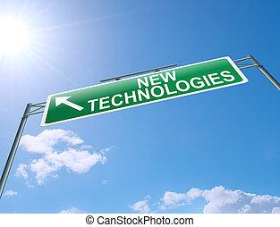 új, technologies, concept.