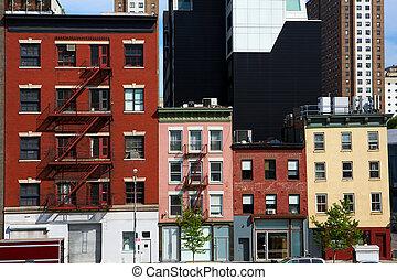 új, város, építészet, york