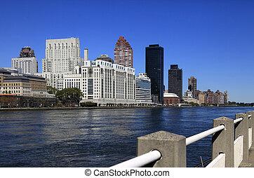új, Város,  -,  Manhattan,  York