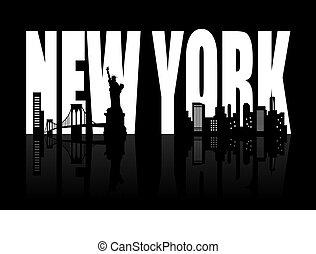 új york égvonal