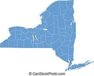 új york térkép