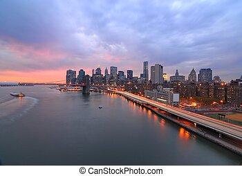 új york város égvonal