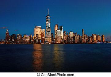 új york város, éjjel