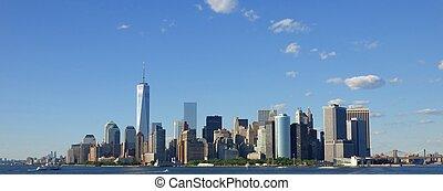 új york város, és, manhattan