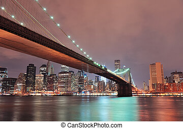 új york város, brooklyn bridzs