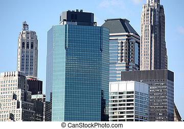 új,  York, Város, Felhőkarcoló,  Manhattan