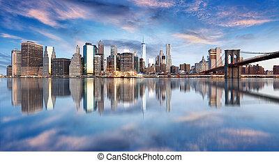 új york város, manhattan, belvárosi, nyc, usa.