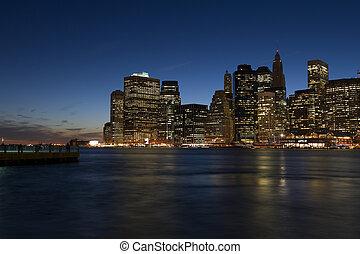 új york város, manhattan, belvárosi, sk