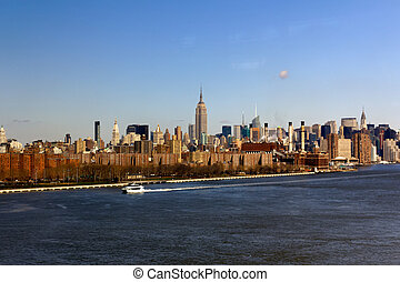 új york város, midtown, alapján, messze