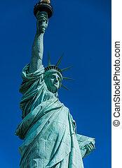 új york város, szobor szabadság