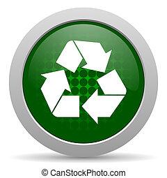 újra hasznosít, újrafelhasználás, ikon, aláír