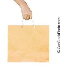 újra hasznosít, bag., bevásárlás, birtok, ember