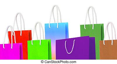 újra hasznosít, táska, dolgozat, bevásárlás