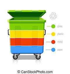 újrafelhasználás, befest, infographic, faládák