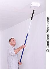 újrafestő, szoba, szobafestő