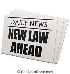 újság, új, törvény, előre