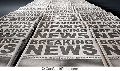újság, sajtó, futás, vég
