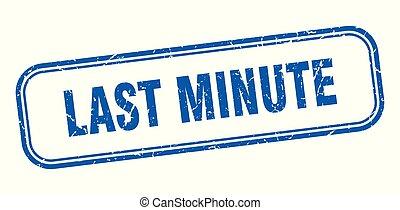 último minuto