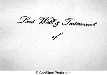 último, presente dando, vontade, legado, testamento, documento