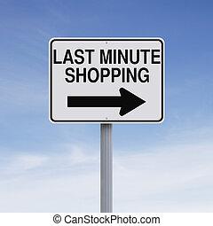 último, shopping, minuto