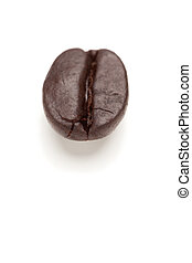 único, assado, feijão café, branco