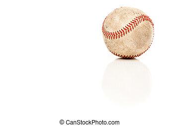 único, basebol, isolado, branco