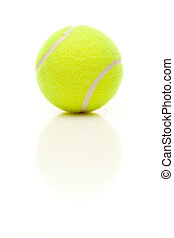 único, bola tênis, branco, com, leve, reflexão