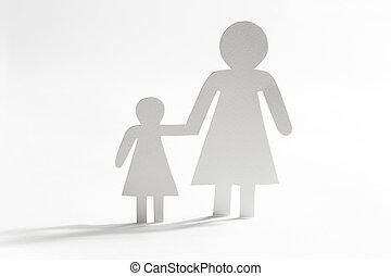 único, filha, mãe