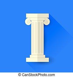 único, grego, coluna