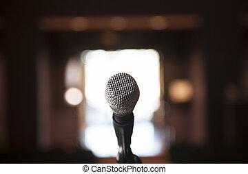 único, microfone, bocca