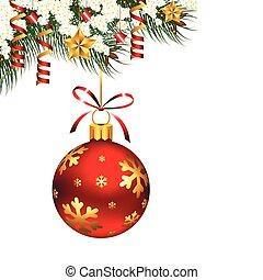 único, ornamento, natal