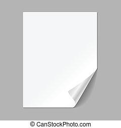único, papel, página
