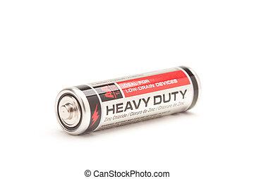 único, resistente, aa, bateria, branco