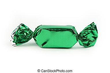 único, verde, doce, isolado