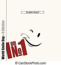 úsměv, plakát, společnost, den