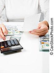 úspora, podporovat peněně, hospodaření, a, domů, pojem, -,...