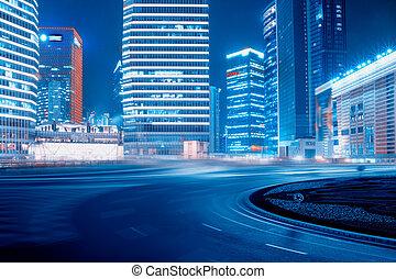 út, és, városi, háttér