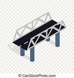 út, bridzs, isometric, ikon
